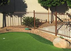 High quality aluminum golf course fencing in Phoenix, AZ